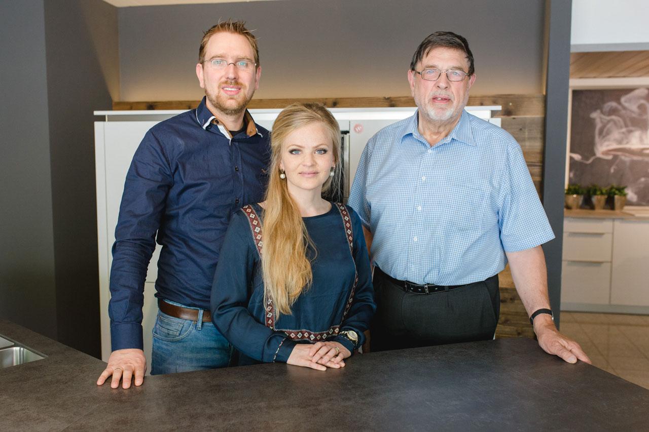 Manuel, Rebecka und Wilfried Hornbruch